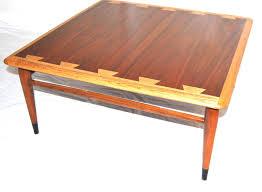 mid century modern lane acclaim square coffee table