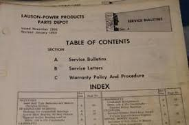 1966-1969 LAUSEN POWER PRODUCTS TECUMSEH ENGINES SERVICE BULLETINS ...