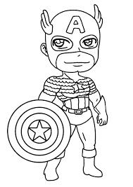 156 Dessins De Coloriage Captain America Imprimer Sur Laguerche