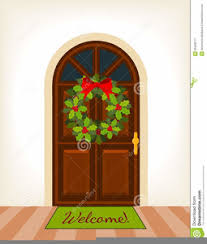 christmas front door clipart.  Front Christmas Front Door Clipart Image Intended Clker