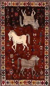 shiraz animal print hand knotted persian design area rug orange 7 5 x4 5 area rugs by rugsource inc