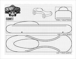 Pinewood Derby Template Custom Comet Derby Car Template Design Download Pictures Of Pinewood Derby