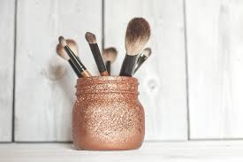 dedicate a couple of minutes this weekend to do some fun diy projects gather your old jars at home and turn them into chic makeup brush holders