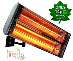 wall mounted outdoor heaters halogen bulb electric infrared patio heater 2 heating elements by firefly south