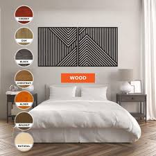 wood wall art geometric bedroom wall