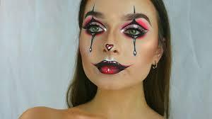 glam clown face chart recreation makeup tutorial 2017
