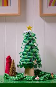 Holiday DIY: Ombre Ribbon Tree Growing up in West Virginia, I saw every  type of Christmas tree craft you can imagine.