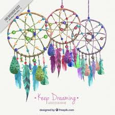 Colored Dream Catchers Classy Background With Watercolor Colored Dream Catchers Vector Free Download