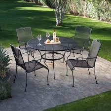 44 mesh patio table meadowcraft wrought iron 84 x 42 oval micro mesh dining timaylenphotography com