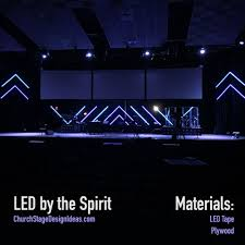 Led By The Spirit Church Stage Design Stage Design