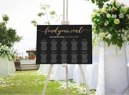 Etsy Wedding Seating Chart Wedding Seating Chart Elegant Gold Seating Chart Template Wedding Seating Plan Wedding Table Plan Find Your Seat