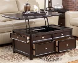 storage shelf dark brown mahogany wood lift top coffee table ashley lift top coffee table lift