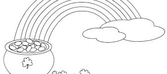 Pot Of Gold Color Sheets Rainbow Pot Of Gold Coloring Pages Erdesvan Info