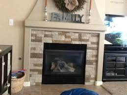 image of air stone fireplace design