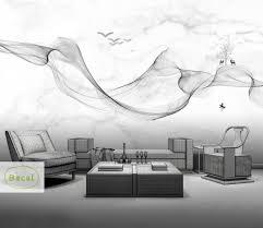 Custom Fog Designs Us 10 34 45 Off Custom Photo Wallpaper Modern 3d Wall Mural Wallpaper Black White Smoke Fog Art Design Wall Pictures For Living Room Wall Paper In