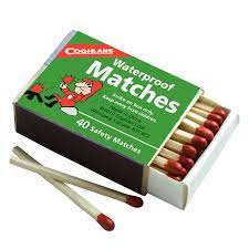 Waterproof Matches - 4 Pack