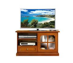 classic wooden tv unit with glass door small living room cabinet made in italy