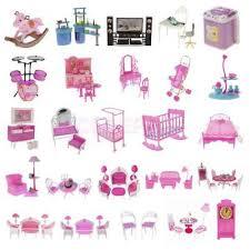 barbie doll house furniture. Dolls House Furniture Play Set For Barbie Doll Kitchen Bedroom Living Room Etc