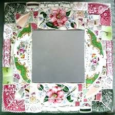 awesome picture frames full size of mosaic mirror framed mirrors glass broken china inspiration furniture delightful