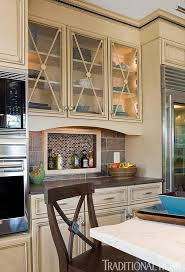 Glass kitchen cabinet doors Stainless Steel Enlarge Traditional Home Magazine Distinctive Kitchen Cabinets With Glassfront Doors Traditional Home