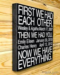 family canvas wall art now we have everything family canvas wall art family rules canvas wall