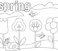 Coloring Pages Spring Sheets For Toddlers Time Free Preschoolers