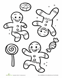 Gingerbread Men Christmas Hanukkah Kwanzaa Worksheets Pinterest