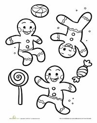 Gingerbread Men Christmas Hanukkah Kwanzaa Worksheets Pinterest