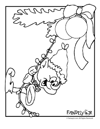 Christmas Elf With Lights Coloring Page Woo Jr Kids Activities