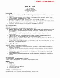 Sample Resume Nurse Practitioner Student Unique New Graduate Nurse ...