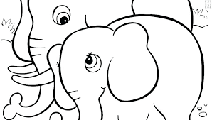 Cartoon Elephant Coloring Pages Cartoon Elephant Coloring Pages Page