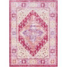 hali house faded persian purple light pink rug