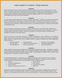 Sample Summary Statement Resume 43 Fantastic Resume Summary Statement Examples Management