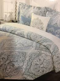 com tahari home blue slate king duvet cover set paisley home kitchen
