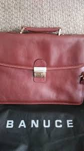 banuce leather bag briefcase