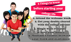 5 Things You Should Know Before Starting Your College Life