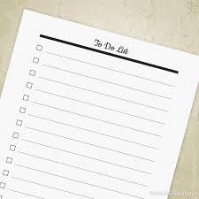 Agenda List To Do List Planner Printable Agenda Tracker Idea Journal Bucket List Honey Do Organizer Insert Digital File Instant Download Tdl001