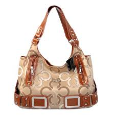 Coach Waverly C Logo Signature Large Khaki Totes EKF