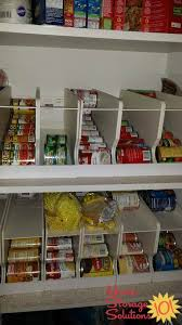 can storage racks in pantry to help with can rotation featured on home storage