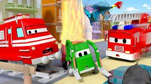 Gary Xe Tải Chở Rác bị cháy ! - xe lửa Troy ? những bộ phim hoạt hình về xe  tải - YouTube