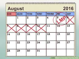 Conception Calendar Based On Due Date - How I Got