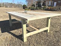 diy outdoor farmhouse table. We Had So Much Fun Building This Farmhouse Table, And I Love That It Fits My Space Exactly. The Greatest Part Of A DIY Project Is Being Able To Customize Diy Outdoor Table N