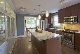 Galley Kitchen Design Layout Sliding Doors For Cabinets Wall