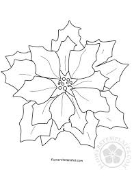 Cut out all of the shapes in the. Chrismas Poinsettia Coloring Page Flowers Templates