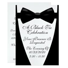 An Elegant Formal Black Tie Event Invitation Zazzle Com