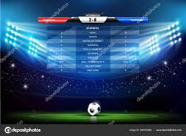 Soccer Playing Time Chart Soccer Field With Stadium With Programs Chart 001 Stock