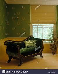 Bettwäsche Blind Auf Fenster Im Land Schlafzimmer Mit Französischen