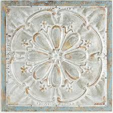 excellent ideas metal medallion wall art interior design embossed decor pier 1 imports flower galvanized and large