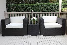 stylish black outdoor wicker chairs with simple but elegant outdoor wicker furniture furniture design ideas