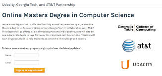 computer tech degree georgia tech teams up with udacity at t to offer 6k masters
